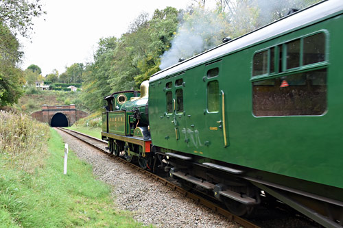 H-class with Autumn Tints approaching tunnel - Brian Lacey - 19 October 2015