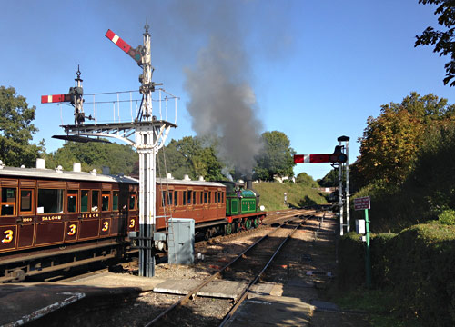 H-class with the Victorian set at Horsted Keynes - Richard Salmon - 26 September 2015