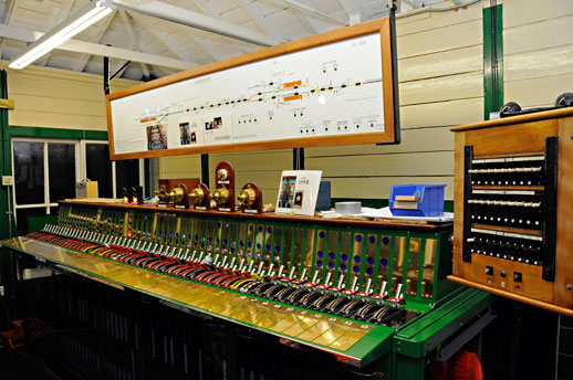 Kingscote signalbox frame in training mode - Derek Hayward - 12 December 2015