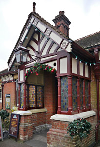 Restored porch at Sheffield Park - John Sandys - 3 December 2015