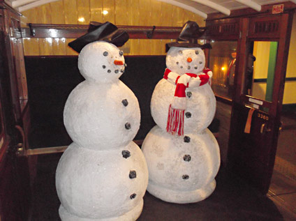 Snowmen in coach 3360 - 8 November