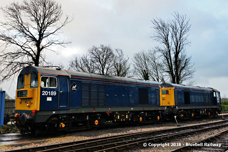 Class 20s on gauging test at Sheffield Park - Martin Lawrence - 1 February 2016