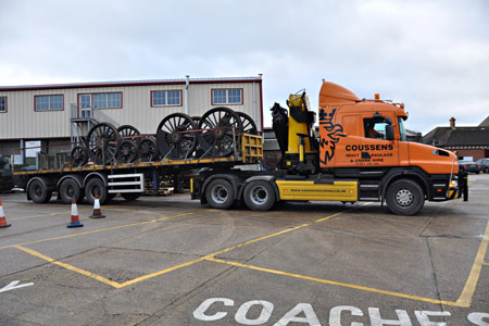 Wheelsets from 80151 set off for South Devon Engineering - John Sandys - 14 January 2016
