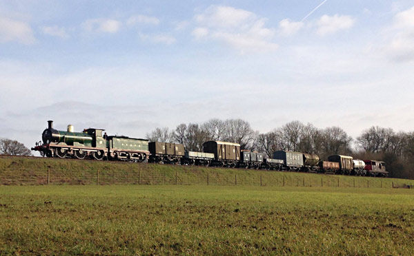 C-class with goods train - Alex Fisher - 27 February 2016