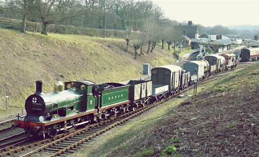 C-class with goods train - David Long - 27 February 2016