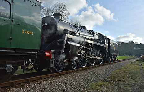 No.73082 passes West Hoathly - Brian Lacey - 16 February 2016