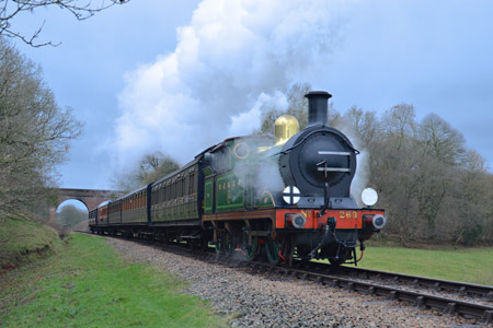 H-class with the Edwardian set at Three Arch Bridge - Steve Lee - 1 January 2016