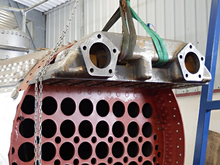 Trial fit of superheater header - Fred Bailey - 10 March 2016