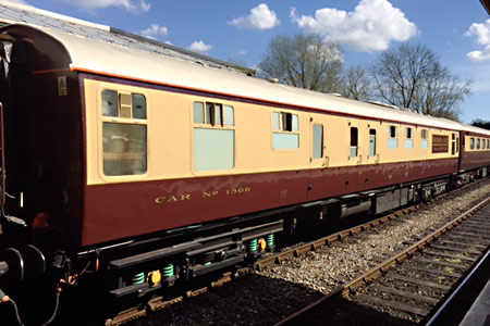 RKB 1566 in the Belmond Northern Belle at Kingscote - Roy Watts - 12 April 2016
