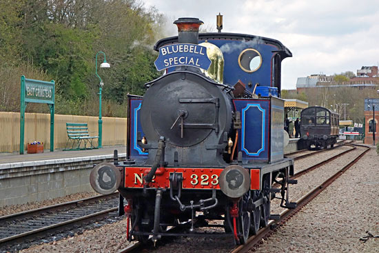 Bluebell with a Bluebell Special at East Grinstead - Brian Lacey - 27 April 2016