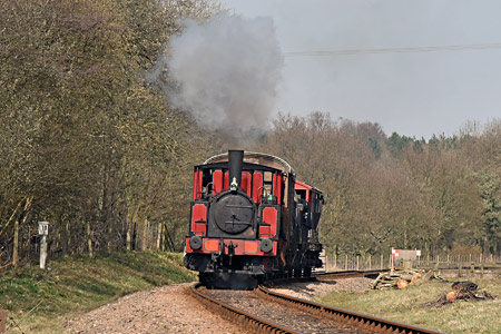 Baxter with goods train at West Hoathly - Brian Lacey - 2 April 2016