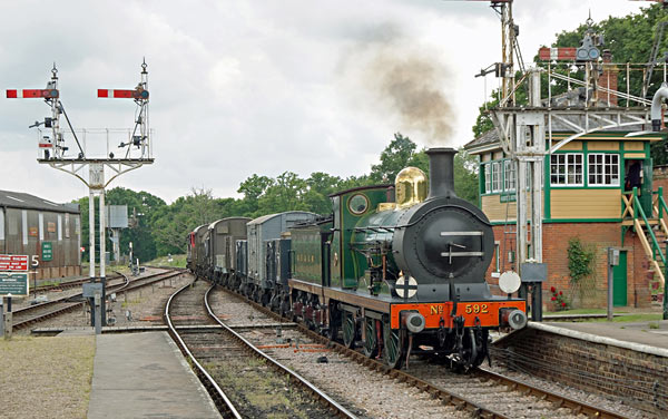 C-class passes through Horsted Keynes with goods train - Brian Lacey - 11 June 2016