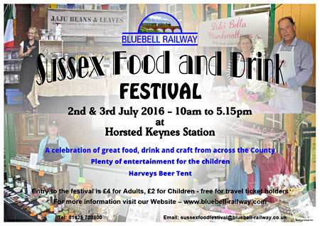 Food & Drink Festival 2-3 July at Horsted Keynes - poster by Mike Hopps