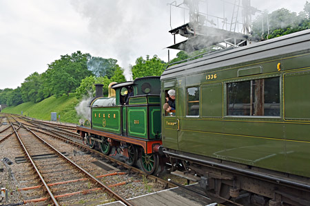H-class at Horsted Keynes with Maunsell Open Third 1336 - Brian Lacey - 28 May 2016