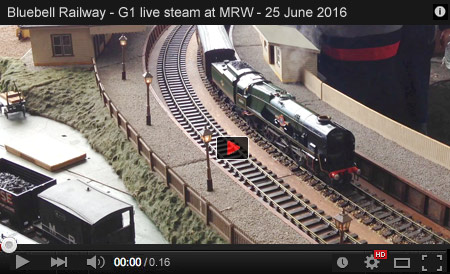 G1 Live Steam at the 2016 Bluebell Railway Model Railway Weekend