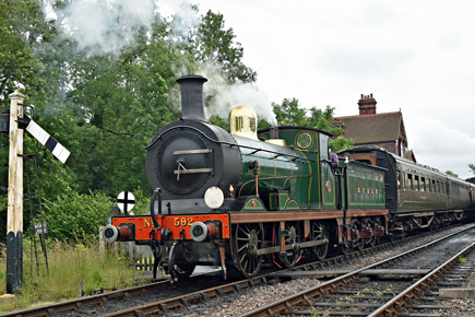 C-class and Maunsell coaches at Sheffield Park - Brian Lacey - 9 July 2016