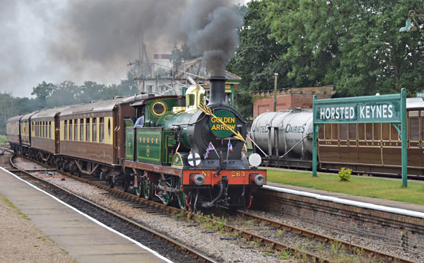 H-class with Pullmans at Horsted Keynes - John Sandys - 29 August 2016