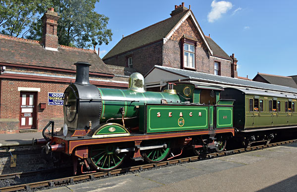 H-class and LBSCR Carriage 7598 at Sheffield Park - Brian Lacey - 30 August 2016