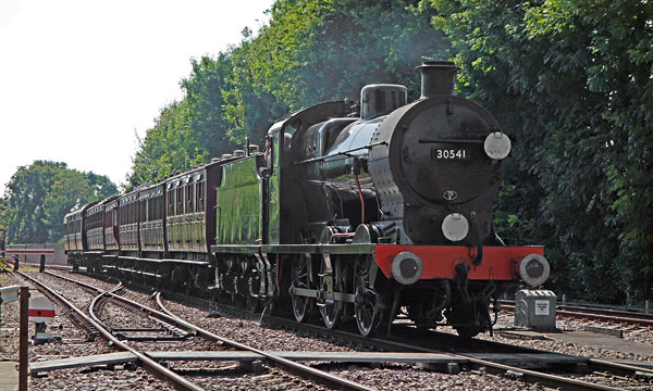 30541 arrives at East Grinstead with vintage coaches - Brian Lacey - 17 August 2016