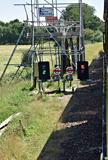 Temporary signalling at Sheffield Park - Brian Lacey - 23 July 2016