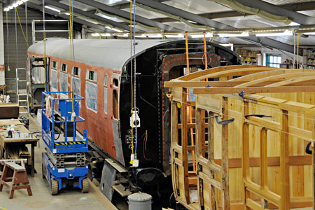 Bulleid and Stroudley carriages in the C&W works - Derek Hayward - 2 October 2016