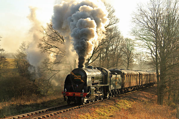 The S15 approaches Three Arch Bridge with the Golden Arrow Luncheon Train - David King - 11 December 2016