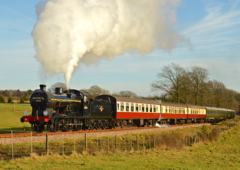 30541 on Freshfield Bank with steam to spare - Steve Lee - 11 December 2016