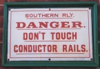Conductor Rail Sign