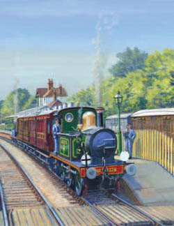 Vintage locos and coaches at Kingscote - Matthew Cousins