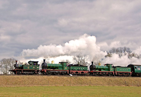 753, 65 and 592 tripleheader - Derek Hayward - 22 Feb 2009