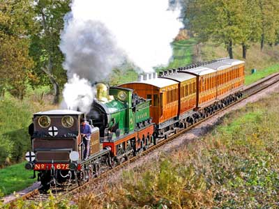 Fenchurch and 65 with Victorian carriages - 11 November 2006 - Richard Thomas