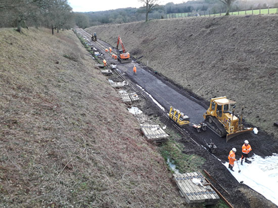 Over half the track laid - Jon Goff - 17 January 2020
