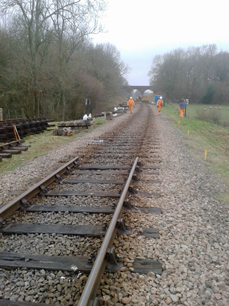 The old rails removed - Bruce Healey - 22 January 2020