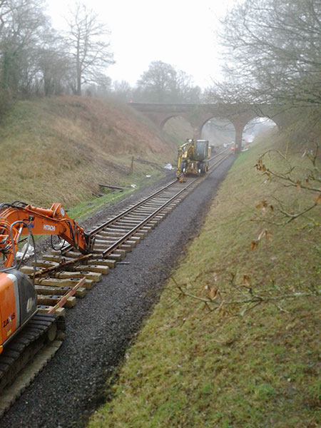 The new rail extends well beyond 3 Arch Bridge - Bruce Healey - 22 January 2020