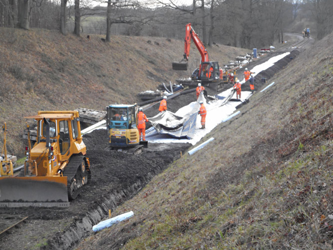 Work in the cutting at full swing - Jon Goff - 10 January 2020