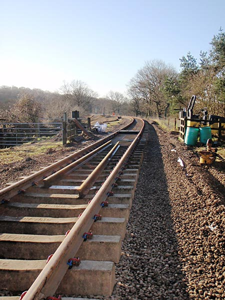 Relaid line looking south - Bruce Healey - 12 February 2020
