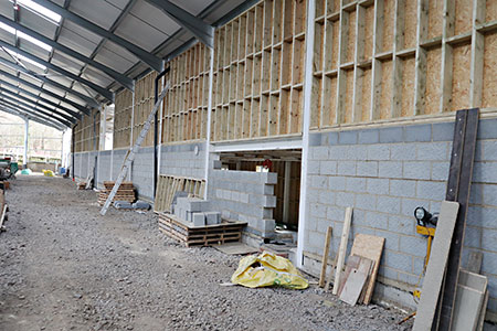 HSC rear wall from inside the carriage shed - Barry Luck - 17 January 2020