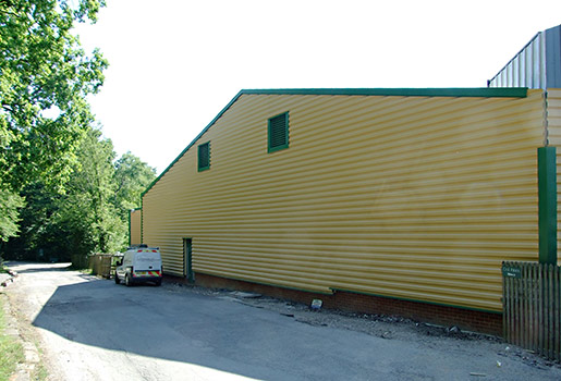 North end of the OP4 storage shed - Richard Salmon - 25 June 2020