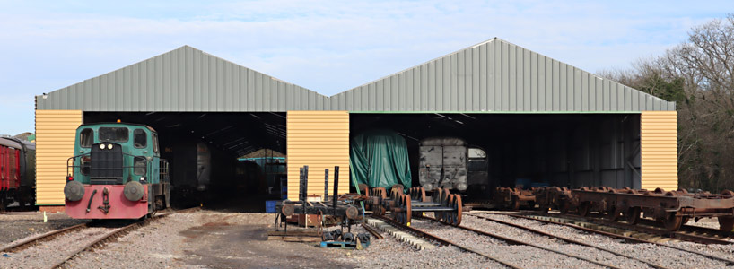 Cladding progressing on the South end of OP4 - Barry Luck - 7 February 2020