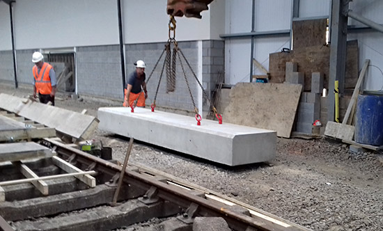 Sill section being moved out of the shed - Bruce Healey - 15 July 2020