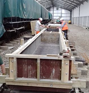 Mould being prepared for casting of next sill sections - Bruce Healey - 15 July 2020