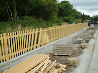 New fencing erected at East Grinstead - David Chappell - 26 July 2010
