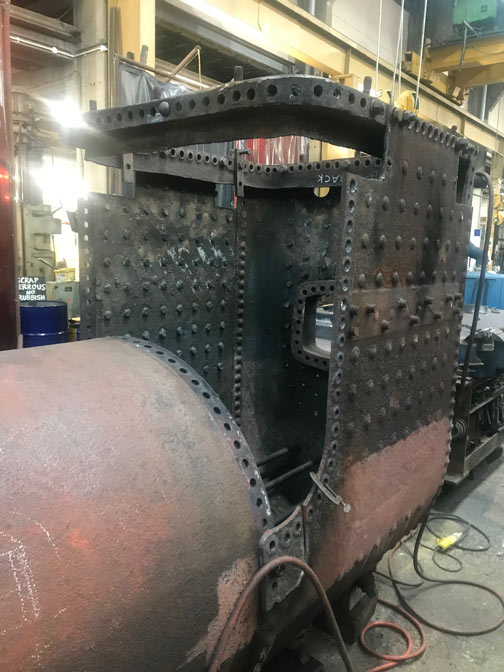 Fenchurch's boiler with the throatplate and inner firebox removed - Tom James - 22 November 2020
