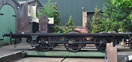 Fenchurch's frames on the traverser outside the workshop at Statfold Barn - Nicholas Smith - 12 June 2021