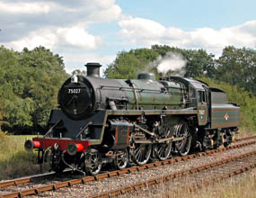 75027 in steam at Kingscote - Derek Hayward - 27 August 2006