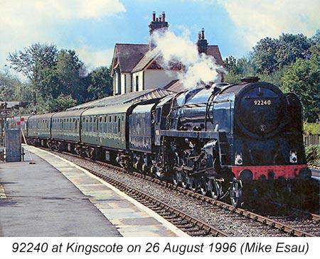 92240 at Kingscote - Mike Esau - 26 August 1996