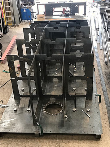 Tender from rear, showing the baffles - D G Welding - 29 May 2019