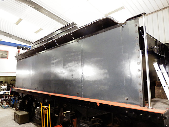Tender with coal rails in place - Fred Bailey - 29 October 2020