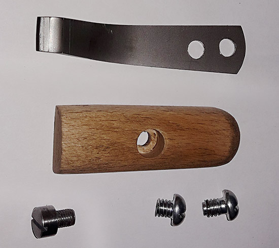 Wooden handle for the vacuum ejector trigger - Fred Bailey - 28 June 2021