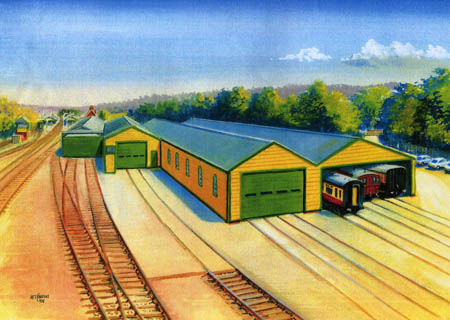 Preliminary sketch of proposed carriage shed extension - Matthew Cousins - 2008